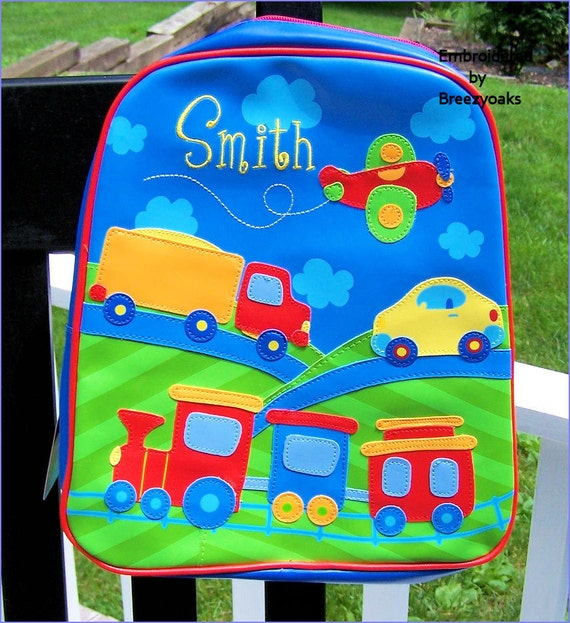 Personalized Stephen Joseph Transportation GoGo Bag