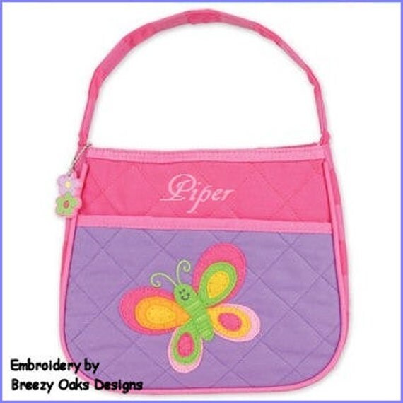 Personalized Stephen Joseph Quilted Butterfly Purse