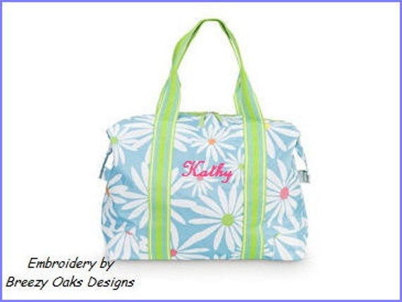 Personalized Classic Daisy Travel ToteBridesmaid Gifts, Cosmetic Bag, Accessories, Mothers Day, Canvas,