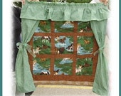 Handmade Customized Window Scenes Wall Quilt