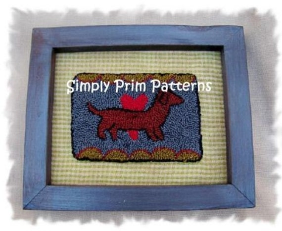Dachshund Doxie Punch Needle epattern embroidery