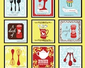 """As seen on NBC's Save Me Set - Kitchen Art Prints - Nine 5""""x5"""" Prints in Any Custom Color Scheme - Wall Collage"""