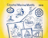 Coastal Marine Aunt Martha's Embroidery Transfer Designs