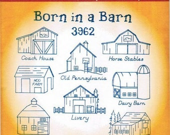 Barns Aunt Martha's Embroidery Transfer Designs Pattern