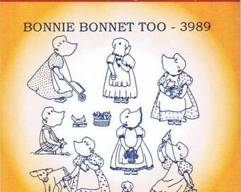 Bonnie Bonnet Too (Sunbonnet Sue) Aunt Martha's Hot Iron on Transfer