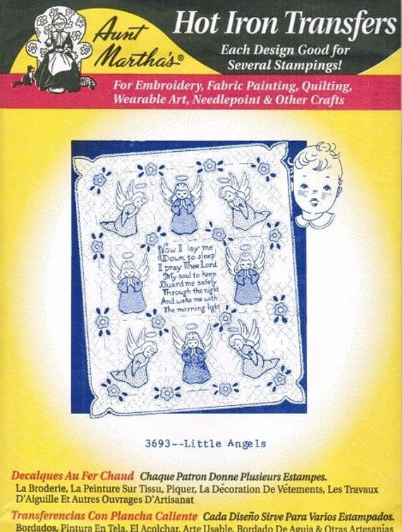 Little Angel 3693 Aunt Martha's Embroidery Transfer Designs