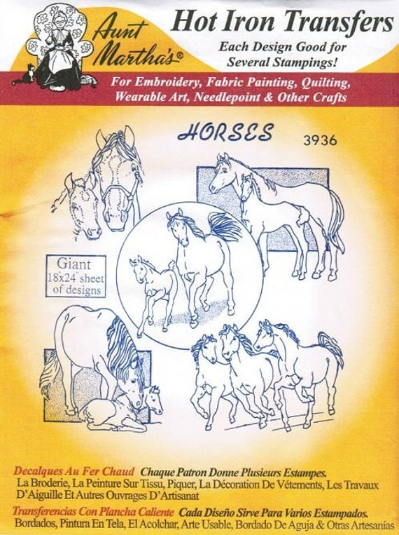 Horses Aunt Martha S Embroidery Transfer Designs By