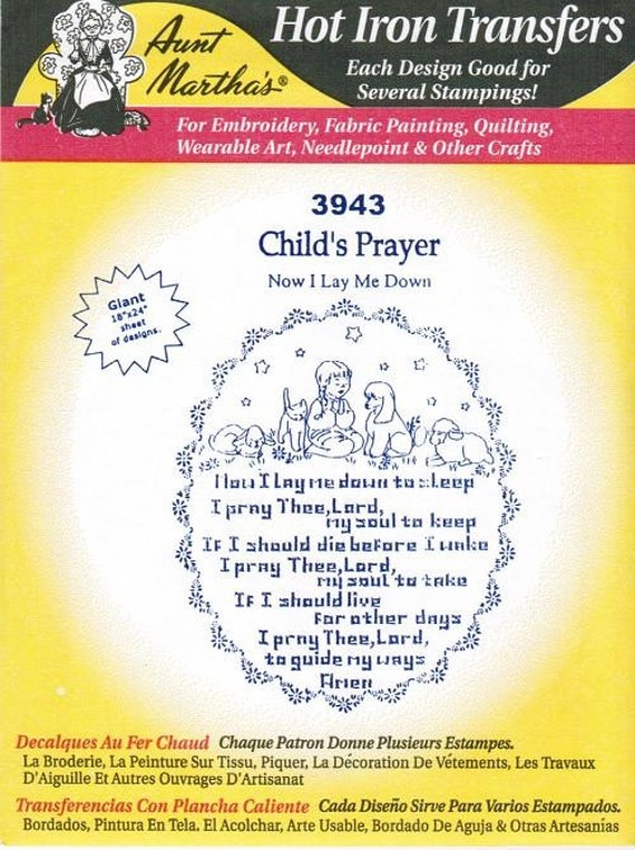 Child S Prayer Aunt Martha S Embroidery Transfer