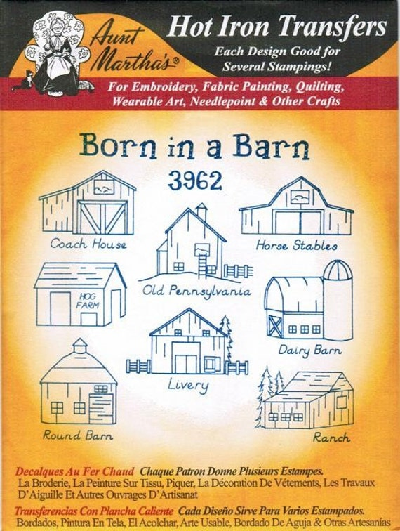 Barns Aunt Martha S Embroidery Transfer Designs Pattern