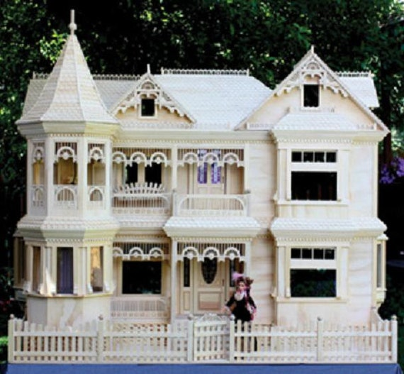 Victorian barbie doll house woodworking plans to make your own for Victorian playhouse plans