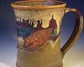 Olive, Purple and Blue Sage Leaf Mug