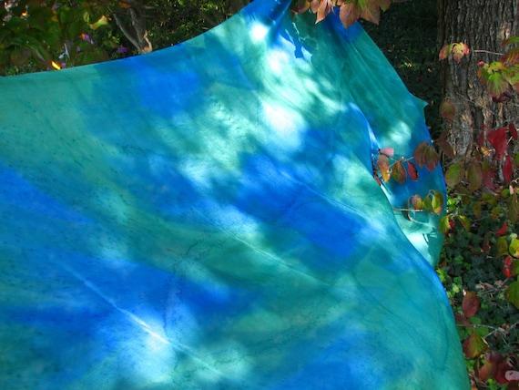 Charisma . . . hand painted silk bellydance veil