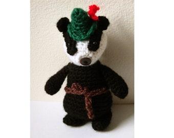 Amigurumi Pattern Crochet Badger