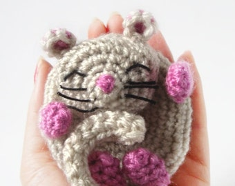 Amigurumi Mouse Pattern - Dormouse - Crochet Mouse Pattern