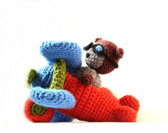Crochet Amigurumi Airplane & Cat Pattern