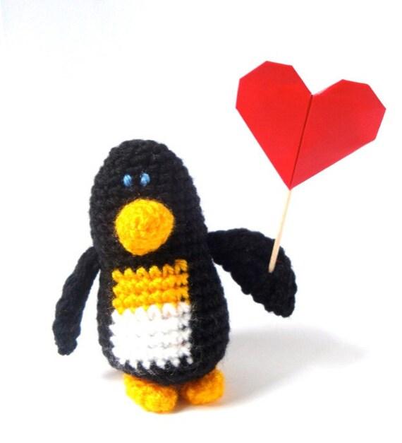 Penguin Plush - Love Penguin Doll - Penguin Amigurumi