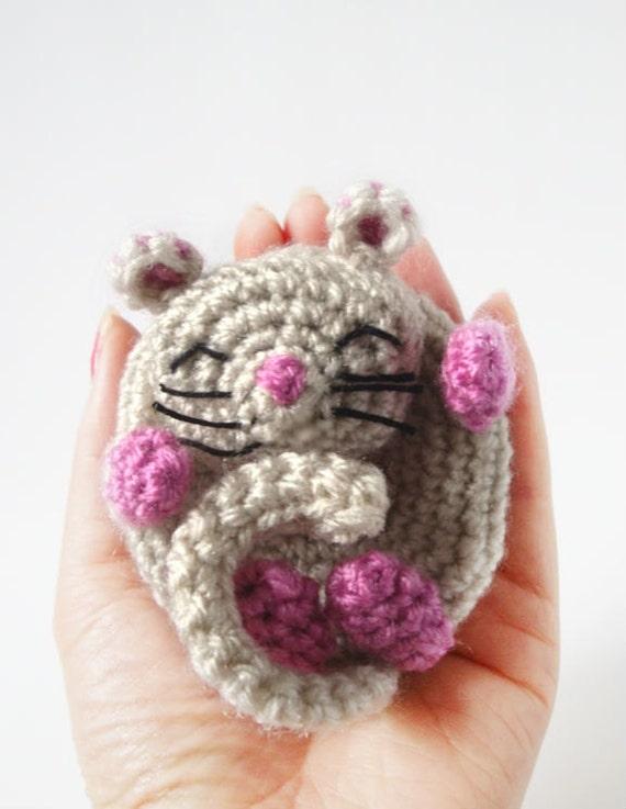 Amigurumi Mouse Pattern - Dormouse - Crochet Mouse Pattern