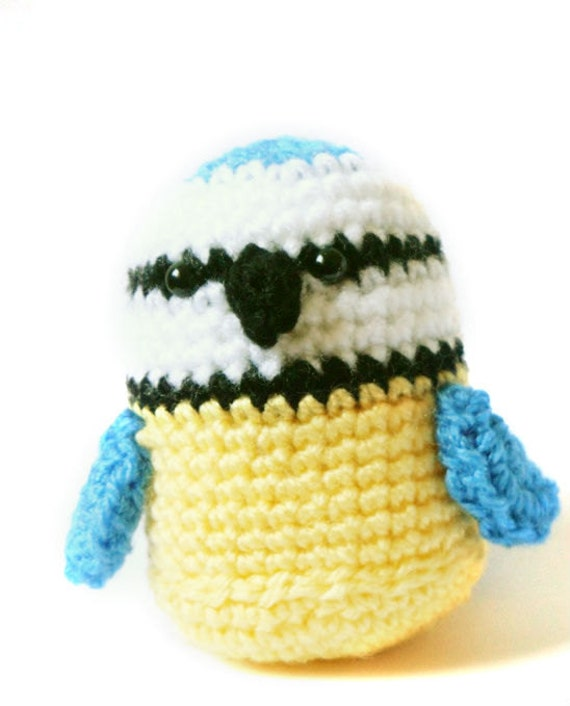 Amigurumi Crochet Bird Patterns : Amigurumi Pattern Blue Tit Bird Crochet Pattern