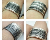 Stacking rings in sterling silver - Size 3 to 13