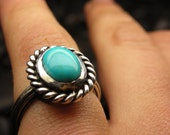 SALE 50% off original price - Turquoise sterling silver ring - Ready to ship Size 7