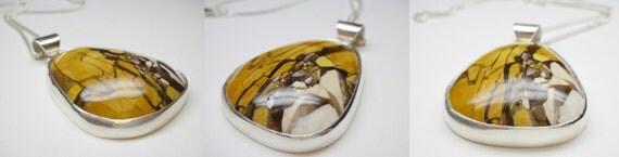 Australian Brecciated Mookaite Amulet handmade in sterling silver