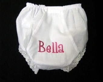 0-4T Monogrammed Diaper Cover Bloomer Name or Initials
