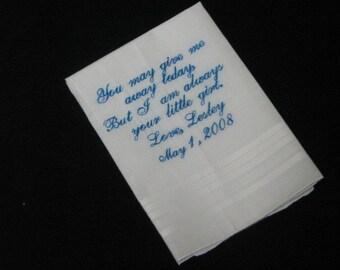 Embroidered Ladies Bridal or Mens Wedding Handkerchief | Hankie| Hankerchief  | Personalized | Monogrammed | Lucy's Pocket
