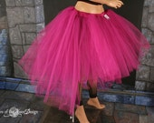 Custom Color Virgin tutu skirt dance extra poofy knee length Romance trash Adult  - You Choose Size -- Sisters of the Moon