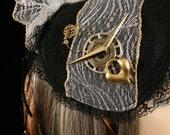 Golden Time Lolita style hat, neo victorian, steampunk SALE