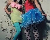 Through the looking glass Alice tutu skirt adult Turquoise dance 80s party -- You choose size -- Sisters of the Moon