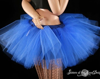 Royal Blue adult tutu skirt petticoat dance roller derby costume race run event wonder woman- You Choose Size - Sisters of the Moon