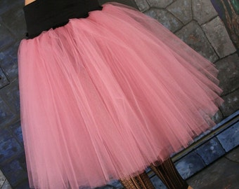 Victorian Romance Tutu skirt extra poofy knee length Adult mauve dance costume UNDERSKIRT -- You Choose Size -- Sisters of the Moon
