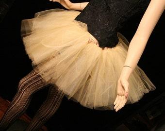 Adult tutu skirt Gold iridescent petticoat dance ballet roller derby costume bridal wedding party --You choose Size