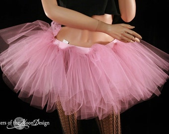Mauve extra poofy tutu skirt dance Adult petticoat princess race run roller derby club wear ballet - You Choose Size - Sisters of the Moon