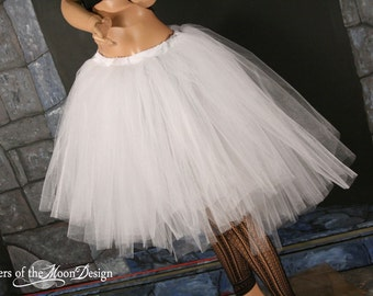 Virgin Romance trash dance tutu skirt extra poofy knee length Adult - Madonna inspired - You Choose Size -- Sisters of the Moon