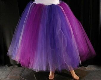 tutu skirt adult Purple Desire Floor length extra puffy petticoat purple wedding bridal off beat - You Choose Size - Sisters of the Moon