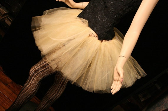 Adult tutu skirt Gold iridescent petticoat dance ballet roller derby costume bridal wedding party --You choose Size