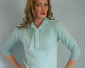 PINUP Vintage 50s Blue French Angora Sweater S