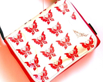 red butterfly messenger bag by missy mao mao on etsy