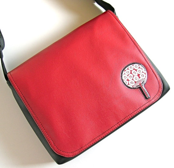 Applique messenger bag by Missy Mao Mao