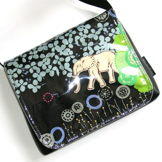 Elephant messenger satchel by missy mao mao on etsy
