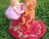 My Greatest Joy Mother and Child - Waldorf-inspired needle felted soft sculpture Made-to-Order