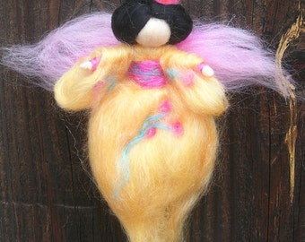 Wool Angel - Japanese Geisha Fairy - Made to order- needle felted fairy- Waldorf-inspired