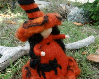Autumn Witch -  Needle felted wool soft sculpture - Waldorf Inspired by Rebecca Varon