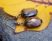 Caramel  Latte  -  Tigers Eye Earrings