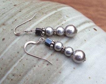 Silver Snow - Sterling Snowmen Earrings