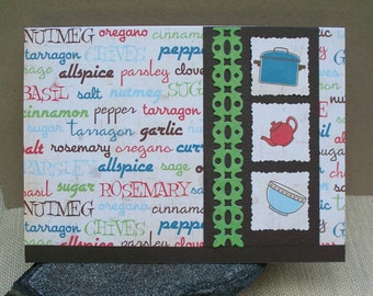 Spices and Herbs - Blank Card
