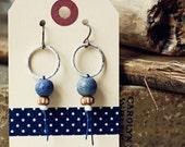 Nantucket- handmade ceramic earrings