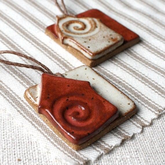 20% OFF SALE Candy Cane Lane- ceramic ornaments