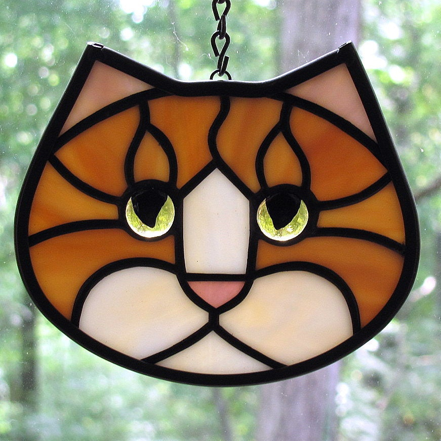 Black Cat Stained Glass